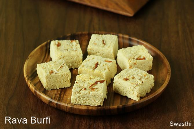 rava burfi recipe