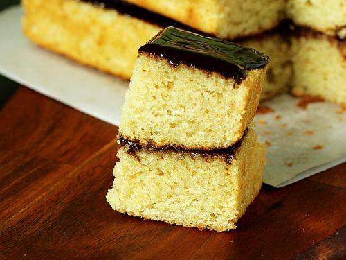 Eggless sponge cake (soft, spongy cake)