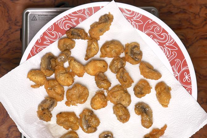 crisp fried mushrooms