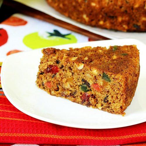 Eggless christmas fruit cake recipe | How to make fruit cake
