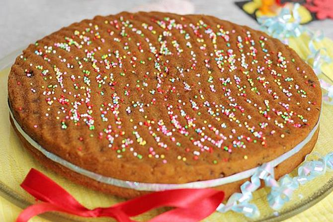 eggless christmas fruit cake with wheat flour