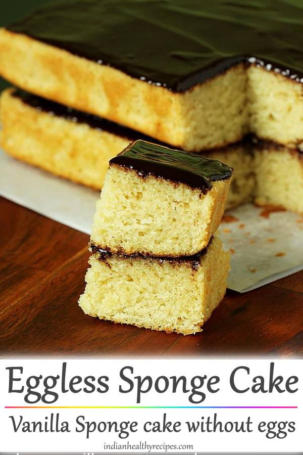 Eggless sponge cake | How to make eggless sponge cake