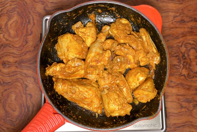 frying chicken marinade to make korma