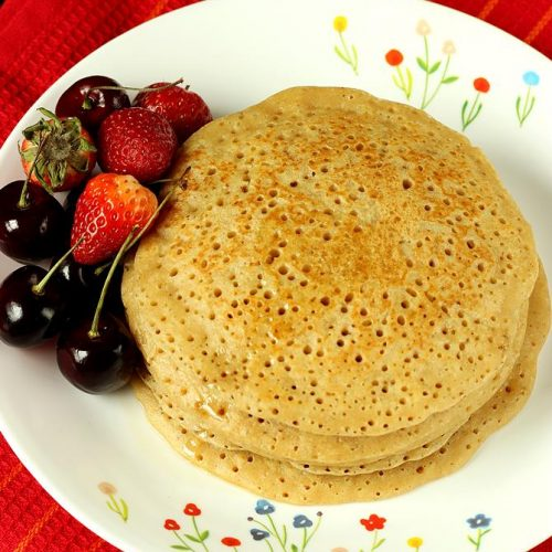 Eggless pancake | How to make eggless pancakes with wheat flour