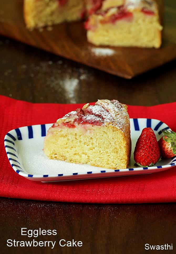 Strawberry Sponge Cake Recipe Indian