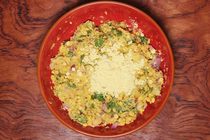 add besan or rice flour