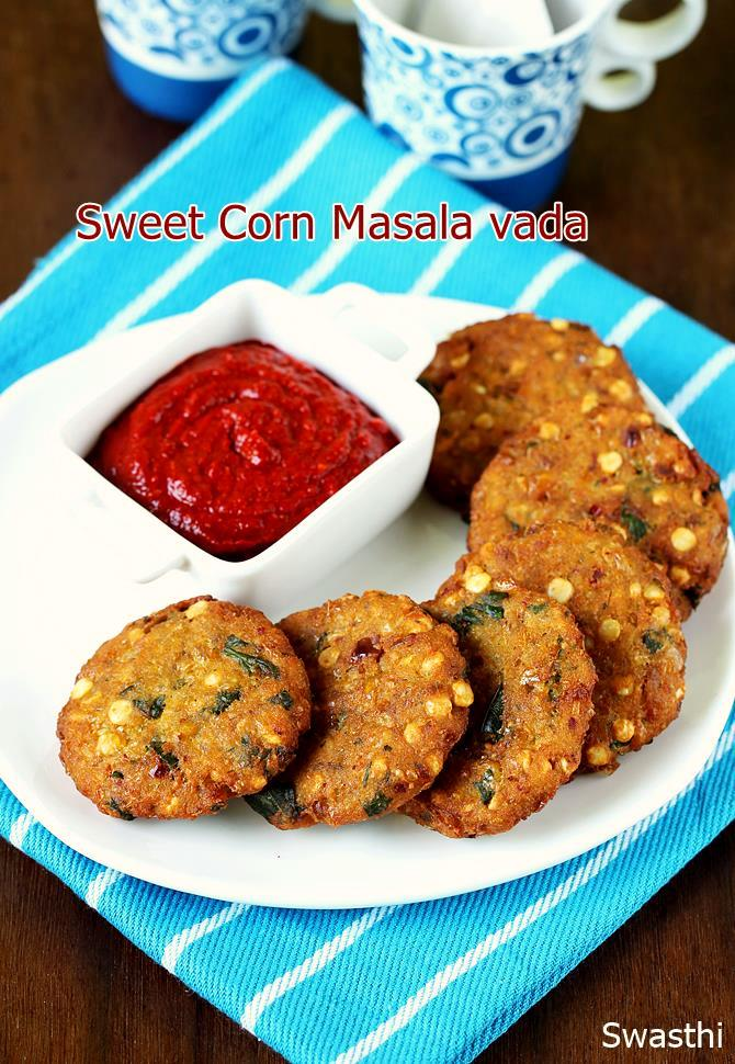 sweet corn vada recipe