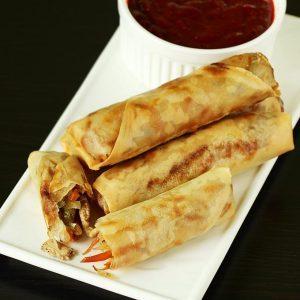 Chicken spring rolls recipe | How to make chicken spring roll