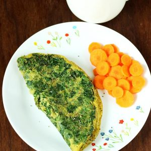 Spinach omelette recipe | Palak omelet recipe | Spinach egg recipe