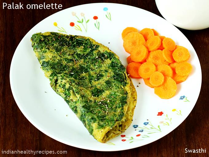spinach omelette palak omelet