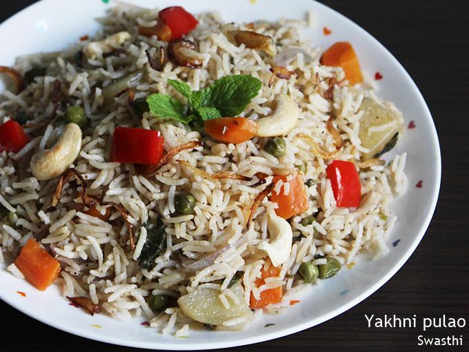 veg yakhni pulao