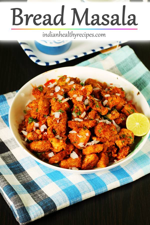 Bread masala is a spicy snack made with bread, spices & herbs. #breadmasala #masalabread
