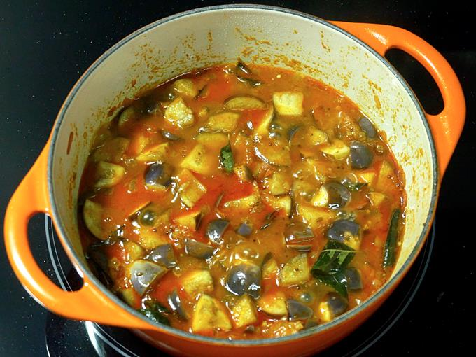 brinjal is cooked