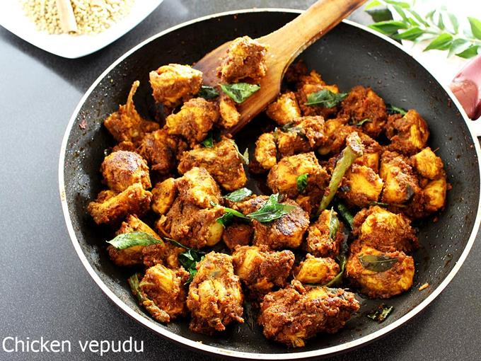 Andhra Chicken Fry Recipe Swasthi S Recipes