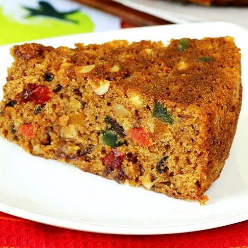 Eggless Christmas Fruit Cake Recipe How To Make Fruit Cake Without Eggs