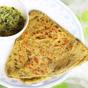 Methi paratha recipe |  Methi roti |  How to make methi paratha recipe
