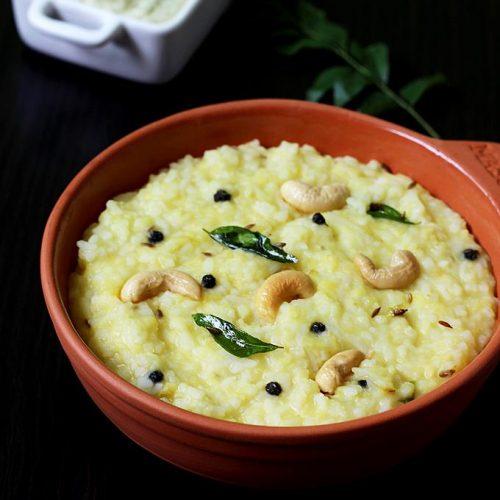 Ven pongal recipe | How to make Khara pongal