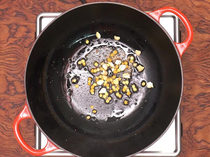 tempering cumin mustard for rava idli