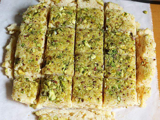 slice the kalakand