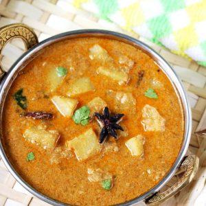Potato kurma recipe | aloo kurma recipe | side dish for chapathi biryani