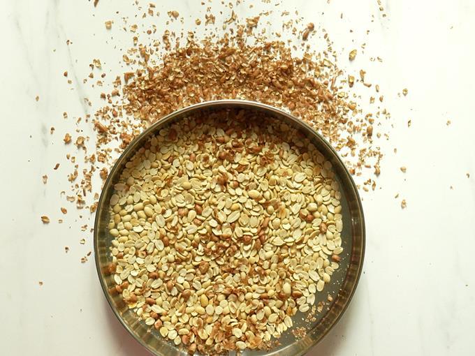 remove peanut skin to make chikki recipe