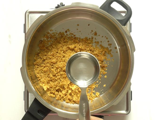 add water to make jaggery syrup