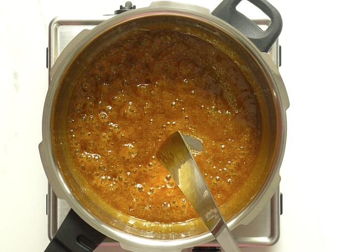 boiling syrup for consistency