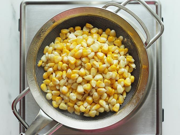 rinse corn