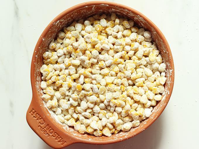toss corn