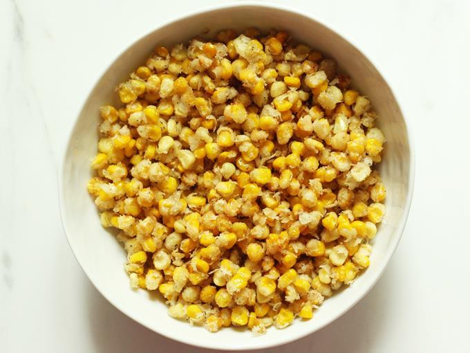 transfer corn to a large bowl