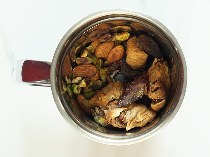 add the dates, apricots, figs