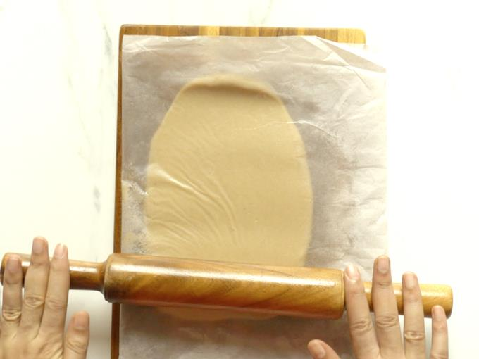 roll the mixture to oval shape