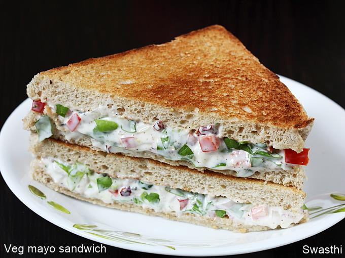 Mayonnaise Sandwich Recipe How To Make Veg Mayo Sandwich