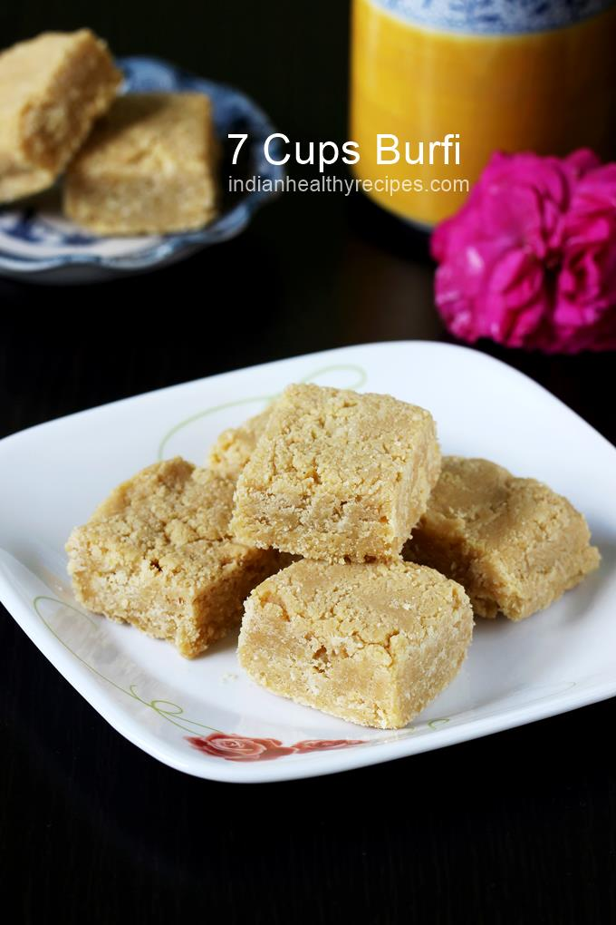 7 cup burfi is a delicious south Indian sweet made using 7 measures of ingredients. 7 cups barfi is usually made for occasions and festivals. #7cupburfi #barfirecipe #indiansweet