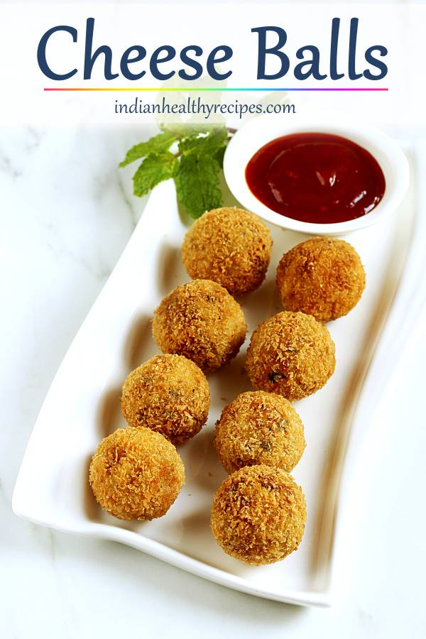cheese balls are an awesome party appetizer made with cheese, potato, herbs & spices. These can be baked or fried. #cheeseballs #cheeseballrecipe #appetizer