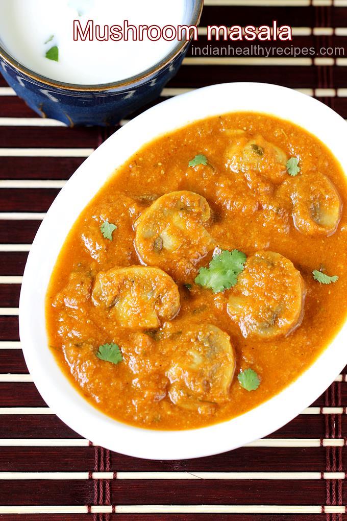 mushroom masala gravy recipe