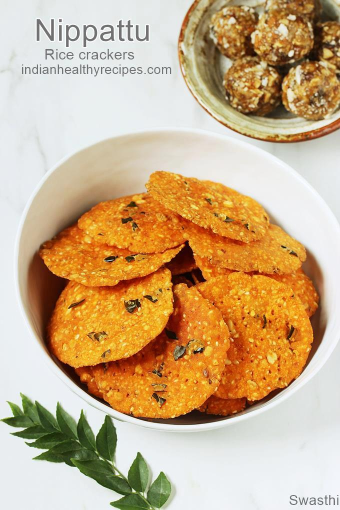 Nippattu are karnataka style spiced rice crackers. Recipe with step by step photos. #nippattu #snack #rice
