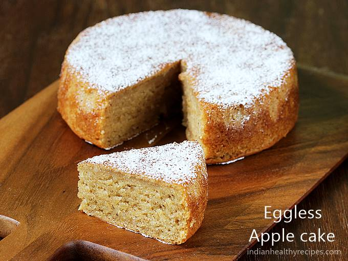 eggless apple cake recipe