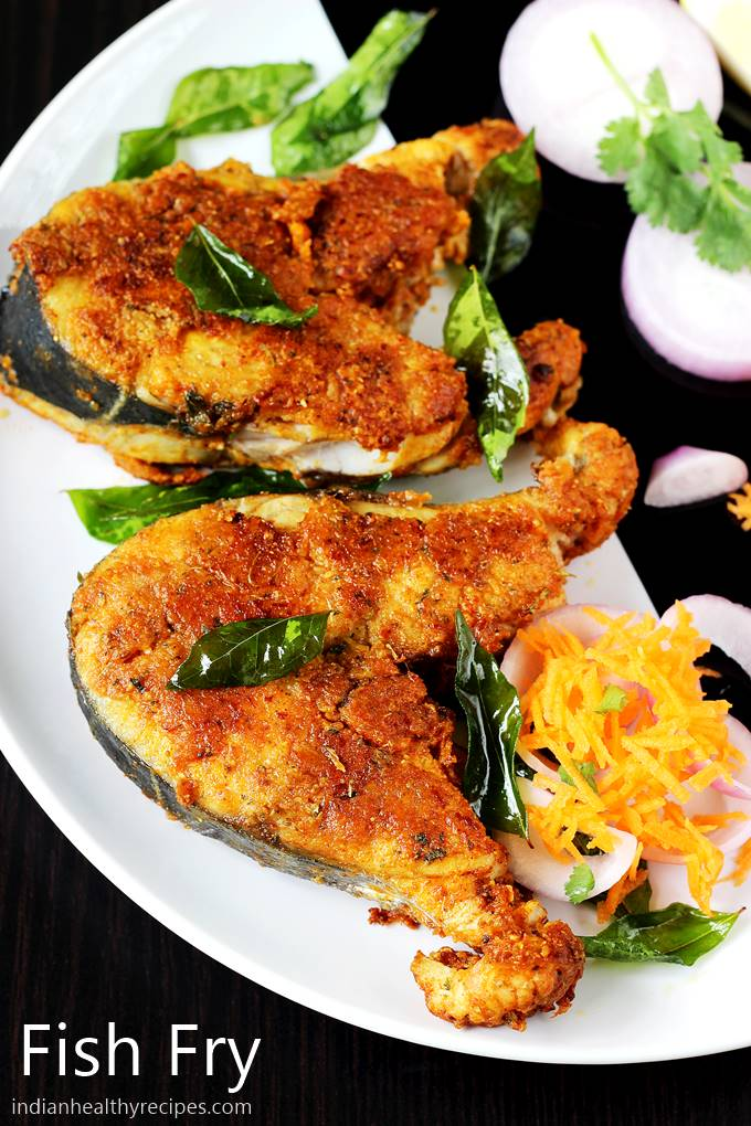 fish fry in south Indian style. This spicy & crispy fish fry turns one to be the best & can be served with any thing you like. #fishfry #fishfryrecipe #friedfish