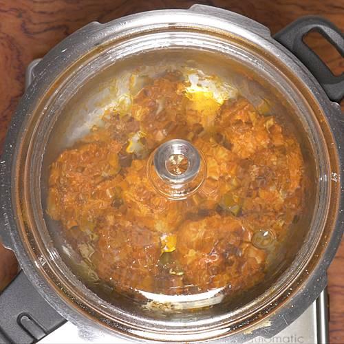 cooking chicken till soft for chicken biryani