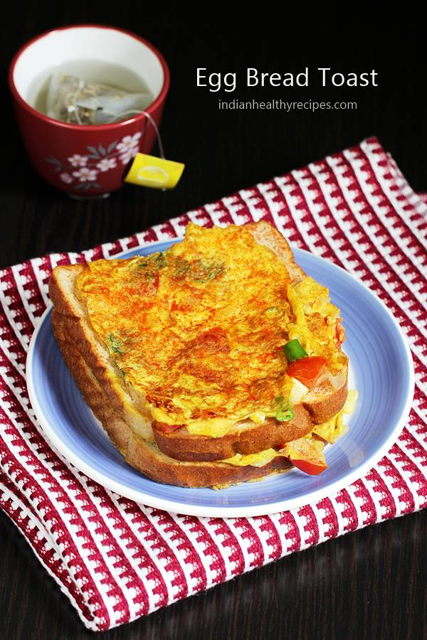 Egg toast is an easy bread toast made with spice powders, egg, bread and herbs. This 10 mins egg bread recipe is super simple to make for breakfast #eggtoast