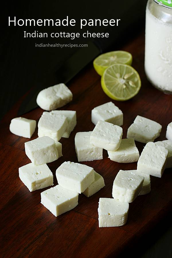 How to make paneer, the easiest cottage cheese that you can make just under 30 mins. Homemade paneer is fresh & soft without additives. Super easy to make!! #cottagecheese #paneer #howtomakepaneer #homemadepaneer #paneer #howtomakepaneer #homemadepaneer