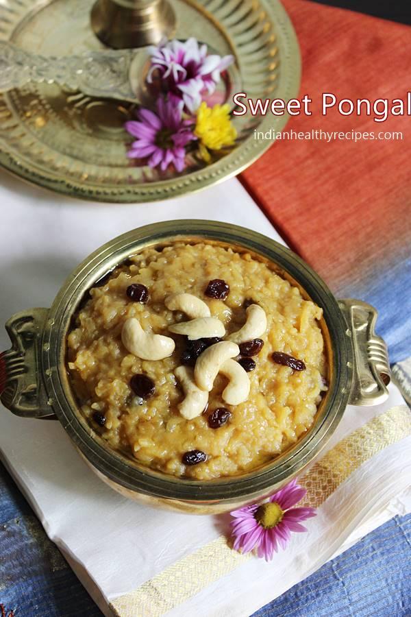 sweet pongal chakkara pongal