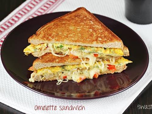 bread omelette sandwich recipe