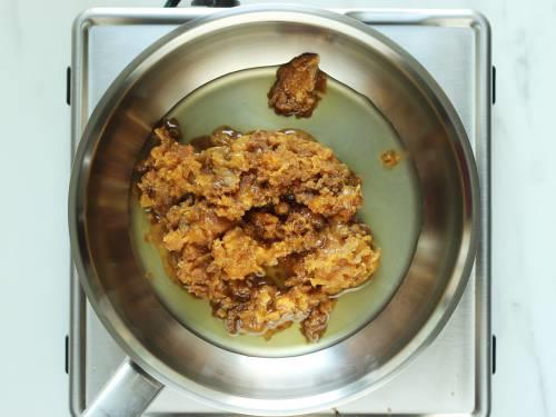 jaggery and water to make syrup