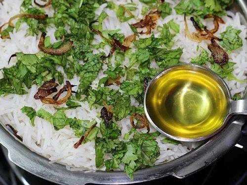 layering rice herbs ghee