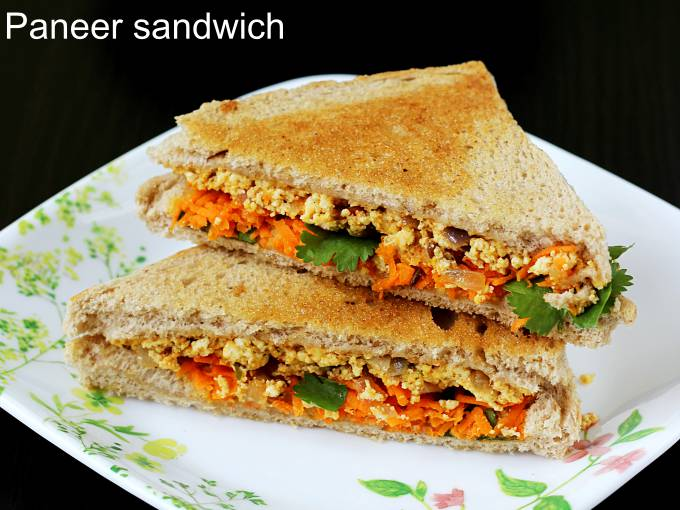 Paneer Sandwich Recipe How To Make Paneer Sandwich