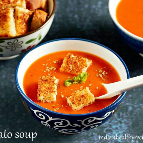 Tomato Soup Recipe With Fresh Tomatoes Swasthi S Recipes