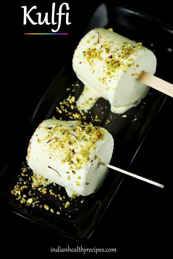 kulfi is a popular Indian ice cream dessert made with milk, sugar, cardamoms & pistachios #kulfi #kulfirecipe