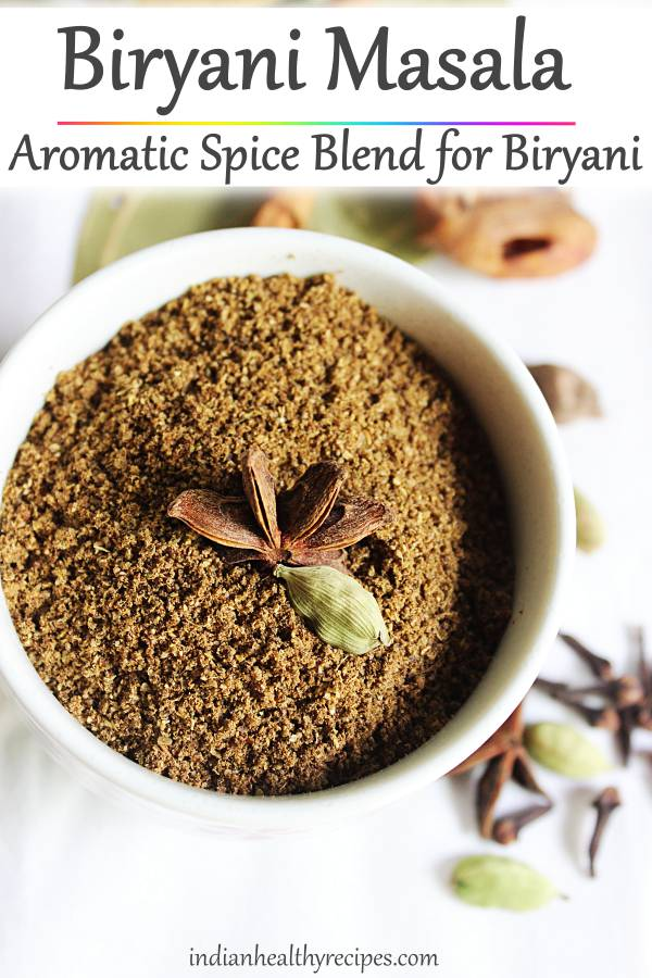 biryani masala is a spice blend made with biryani spices. Make an awesome fragrant biryani with this spice powder. #biryanimasala #biryanimasalapowder